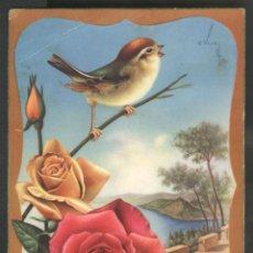 Postales: PAJARILLO SOBRE ROSAS - ED. C. Y Z. SERIE 508/B. Lote 46421660