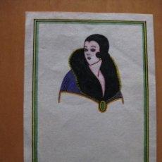 Cartes Postales: BONITA LAMINA TAMAÑO POSTAL PINTADA A MANO SEÑORA. ESTILO ART-DECO.. Lote 47304200
