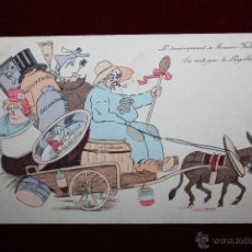 Postales: POSTAL HUMORÍSTICA DE MANUFACTURA FRANCESA. TITULADA LE DÉMÉNAGEMENT DE MONSIEUR FALLIÉRES . Lote 47690968