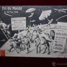 Postales: POSTAL HUMORISTICA DE MANUFACTURA FRANCESA. TITULADA FIN DU MONDE. CIRCULADA. Lote 48427629