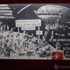 Postales: POSTAL HUMORISTICA DE MANUFACTURA FRANCESA. TITULADA LES DERNIERS INSTANTS AVANT LA FIN DU MONDE. Lote 48427657