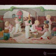 Postales: ANTIGUA POSTAL DE LOS AÑOS 30. FIRMADO PAULI EBNER. NIÑOS. ESCRITA. Lote 48429678