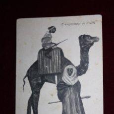 Postales: ANTIGUA POSTAL DE MELILLA. TITULADA TRANSPORTADOR DE VIVERES. ED. BOIX HERMANOS. ESCRITA. Lote 48487797