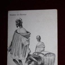 Postales: ANTIGUA POSTAL DE MELILLA. TITULADA VENDEDOR DE CHUMBOS. ED. BOIX HERMANOS. ESCRITA. Lote 48487853