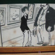 postal con caricatura de opisso