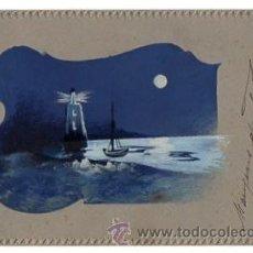 Cartes Postales: TARJETA POSTAL CON DIBUJO COLOREADO A MANO. CIRCA 1905. Lote 49688947