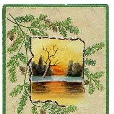 Cartoline: TARJETA POSTAL PINTADA A MANO. AÑO 1909. FIRMADA POR UN OFICIAL DE ARTILLERIA ESPAÑOLA . Lote 49735795