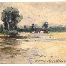 Postales: TARJETA POSTAL PINTADA A MANO. CIRCA 1905. Lote 50036491
