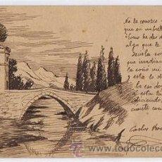 Postales: TARJETA POSTAL CON DIBUJO A PLUMILLA. CIRCA 1905. Lote 269588928