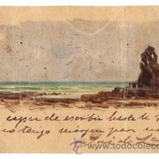 Postales: TARJETA POSTAL PINTADA A MANO. CIRCA 1905. Lote 50204660