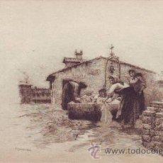 Postales: POSTAL CON GRABADO DE CAMPUZANO. CANTABRIA. SANTANDER. REVERSO SIN DIVIDIR. SIN CIRCULAR.. Lote 50353353