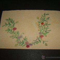 Postales: POSTAL FLORES PINTADA A MANO HACIA 1905. Lote 50363522