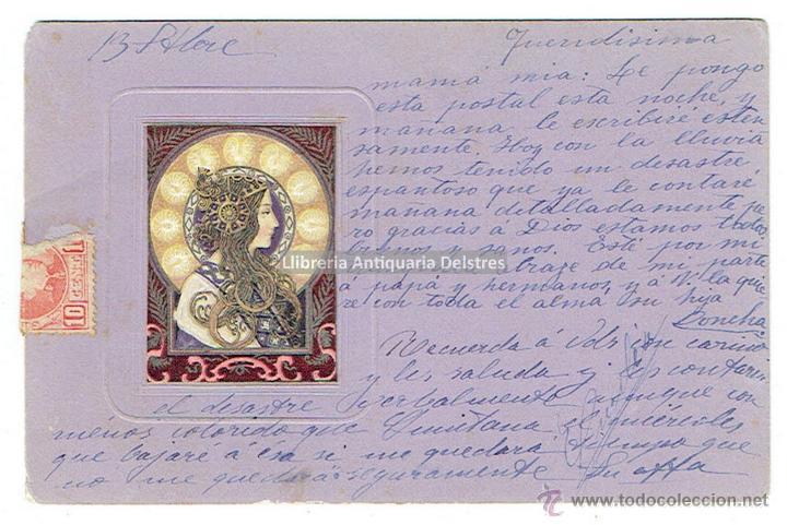 [POSTAL. MALLORCA, 1903] POSTAL MODERNISTA. CIRCULADA (Postales - Postales Temáticas - Dibujos originales y Grabados)
