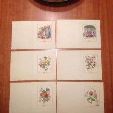 Postales: LOTE DE 6 TARJETAS POSTAL AÑOS 50. Lote 51142524