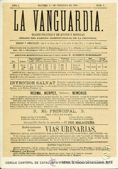 CERCLE CARTÒFIL DE CATALUNYA-LA VANGUARDIA (Postales - Postales Temáticas - Dibujos originales y Grabados)
