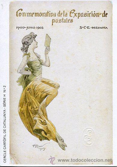 CERCLE CARTÒFIL DE CATALUNYA----CONMEMORATIVA DE LA EXPOSICIÓN DE POSTALES-1903 (Postales - Postales Temáticas - Dibujos originales y Grabados)