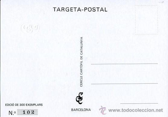 Postales: CERCLE CARTÒFIL DE CATALUNYA----CONMEMORATIVA DE LA EXPOSICIÓN DE POSTALES-1903 - Foto 2 - 53263947