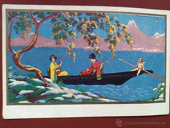 ANTIGUA POSTAL 1928 PINTADA ILUSTRA CORBALAN ( ILEGIBLE) DEGAUMI 1026 (Postales - Postales Temáticas - Dibujos originales y Grabados)