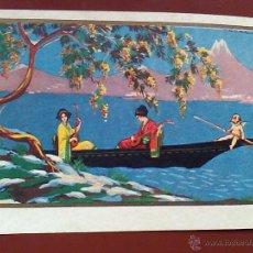 Postales: ANTIGUA POSTAL 1928 PINTADA ILUSTRA CORBALAN ( ILEGIBLE) DEGAUMI 1026. Lote 53383786