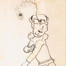 Postales: POSTAL F. J. SUCARANA. JOVEN VESTIDO DE JUGLAR. PINTADA A MANO. CIRCULADA 1915. Lote 54037731
