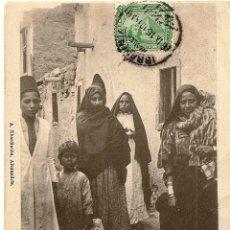 Postales: EGIPTO - FAMILIA ÁRABE - CIRCULADA AÑO 1915 DE ALEJANDRÍA A MADRID. Lote 54072294