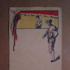 Postales: MUY RARA POSTAL DE TOROS ORIGINAL PINTADA A MANO POR ARTURO BALLESTER. Lote 54735520