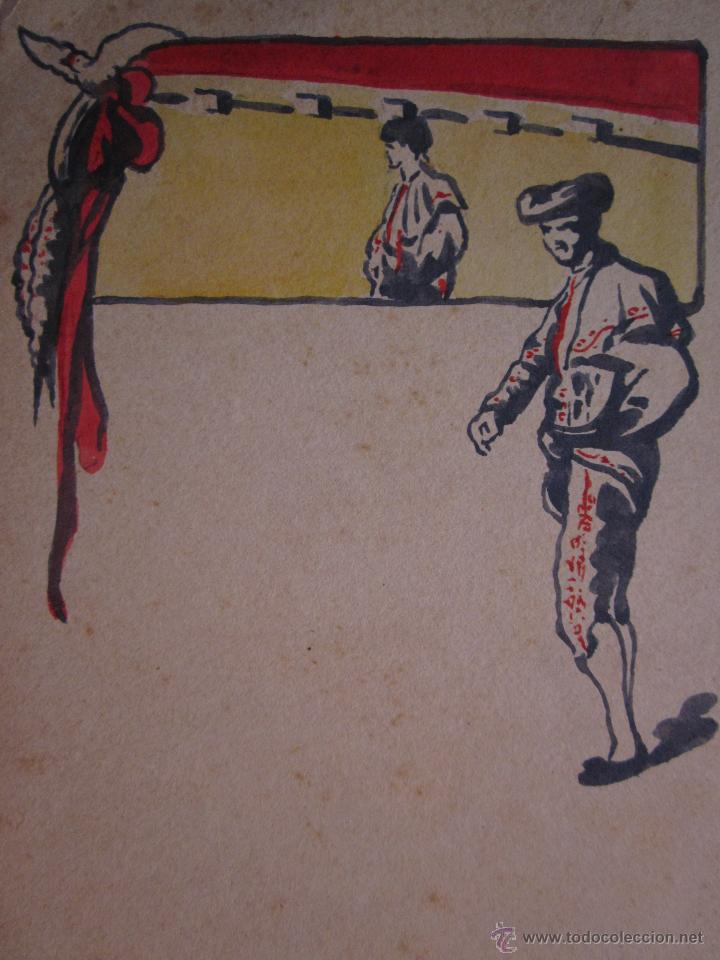 Postales: MUY RARA POSTAL DE TOROS ORIGINAL PINTADA A MANO POR ARTURO BALLESTER - Foto 3 - 54735520