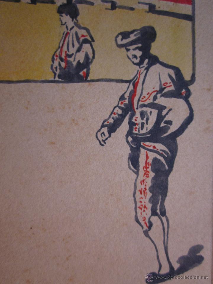 Postales: MUY RARA POSTAL DE TOROS ORIGINAL PINTADA A MANO POR ARTURO BALLESTER - Foto 4 - 54735520