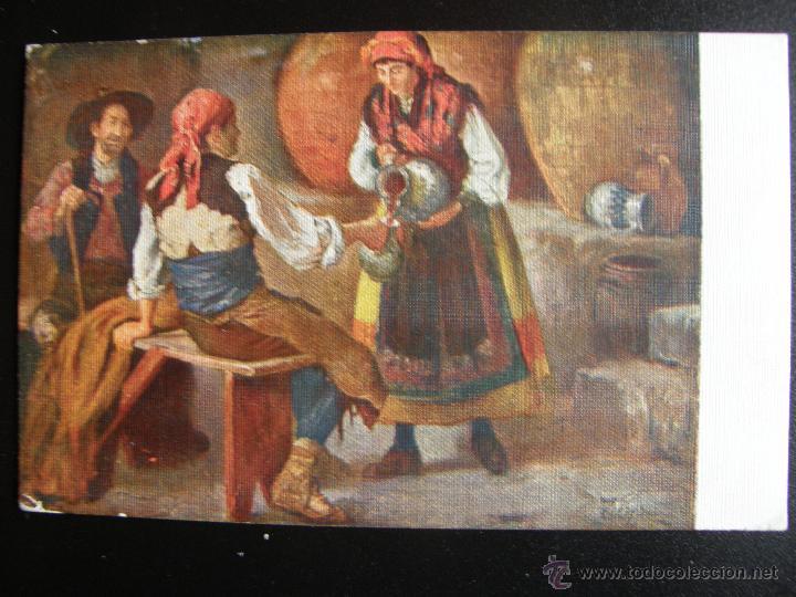 Postales: Lote de 6 postales con pinturas de personajes típicos de 1920 editadas por Coll Salieti Hnos. Bna. - Foto 3 - 54988859