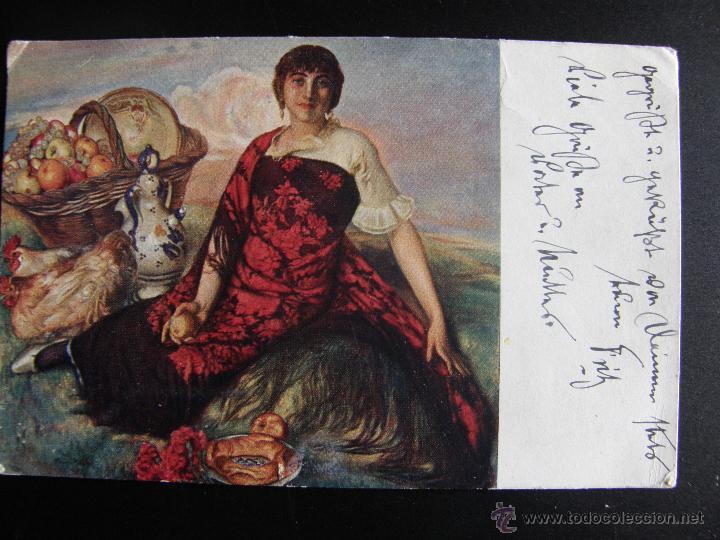 Postales: Lote de 6 postales con pinturas de personajes típicos de 1920 editadas por Coll Salieti Hnos. Bna. - Foto 5 - 54988859
