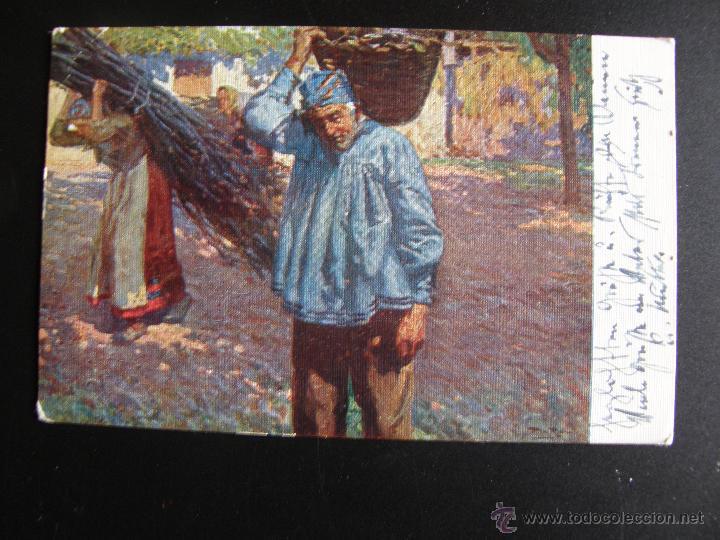 Postales: Lote de 6 postales con pinturas de personajes típicos de 1920 editadas por Coll Salieti Hnos. Bna. - Foto 7 - 54988859