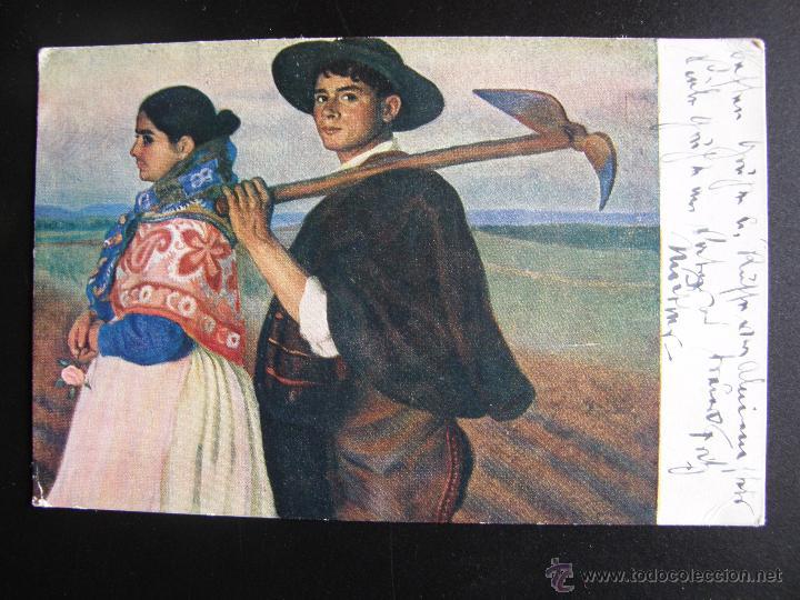 Postales: Lote de 6 postales con pinturas de personajes típicos de 1920 editadas por Coll Salieti Hnos. Bna. - Foto 9 - 54988859