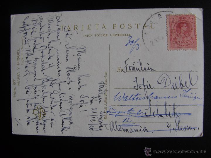 Postales: Lote de 6 postales con pinturas de personajes típicos de 1920 editadas por Coll Salieti Hnos. Bna. - Foto 10 - 54988859