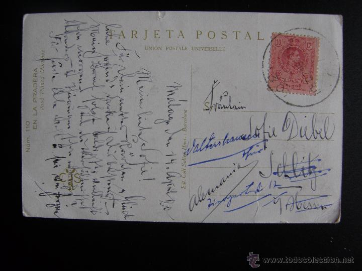 Postales: Lote de 6 postales con pinturas de personajes típicos de 1920 editadas por Coll Salieti Hnos. Bna. - Foto 11 - 54988859