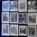 Postales: COLECCION DE 32 TARJETAS NAVIDEÑAS CON RINCONES TIPICOS DE BARCELONA / AÑOS 50. Lote 55334031