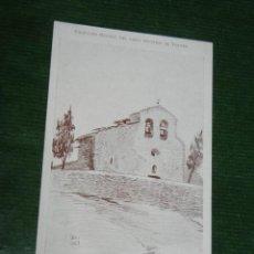Postales: POSTAL COLECCION BRUNET LIBRO GUALBA DE VERGES - IGLESIA DE SAN LLOP - HACIA 1910. Lote 55366207