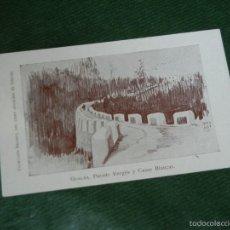 Postales: POSTAL COLECCION BRUNET LIBRO GUALBA DE VERGES - PUENTE VERGES Y CASAS BLANCAS - HACIA 1910. Lote 55366221