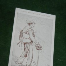 Postales: POSTAL COLECCION BRUNET LIBRO GUALBA DE VERGES - PASTOR DEL MONTSENY - HACIA 1910. Lote 55366228