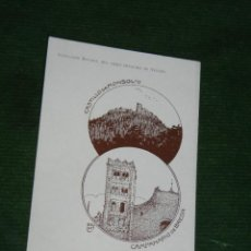 Postales: POSTAL COLECCION BRUNET LIBRO GUALBA DE VERGES - CASTILLO MONTSOLIU CAMPANARIO BREDA - HACIA 1910. Lote 55366233