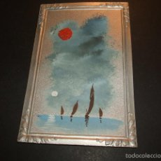 Postales: POSTAL MARCO IMPRESO PINTADA A MANO MARINA HACIA 1910. Lote 55574255