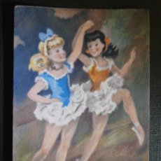 Postales: ANTIGUA POSTAL FRANCESA - BAILARINAS - M. BARRÉ & J. DAYEZ - NUEVA SIN ESCRIBIR NI CIRCULAR - 1954. Lote 55926886