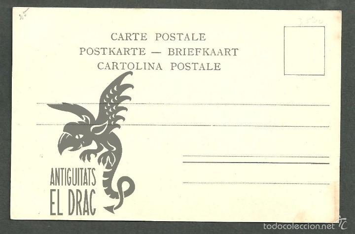 Postales: Tarjeta postal firmada por Henri Cassiers litografiada de O. Dasd y Mendel, Bruxelles 1900 - Foto 2 - 56251763