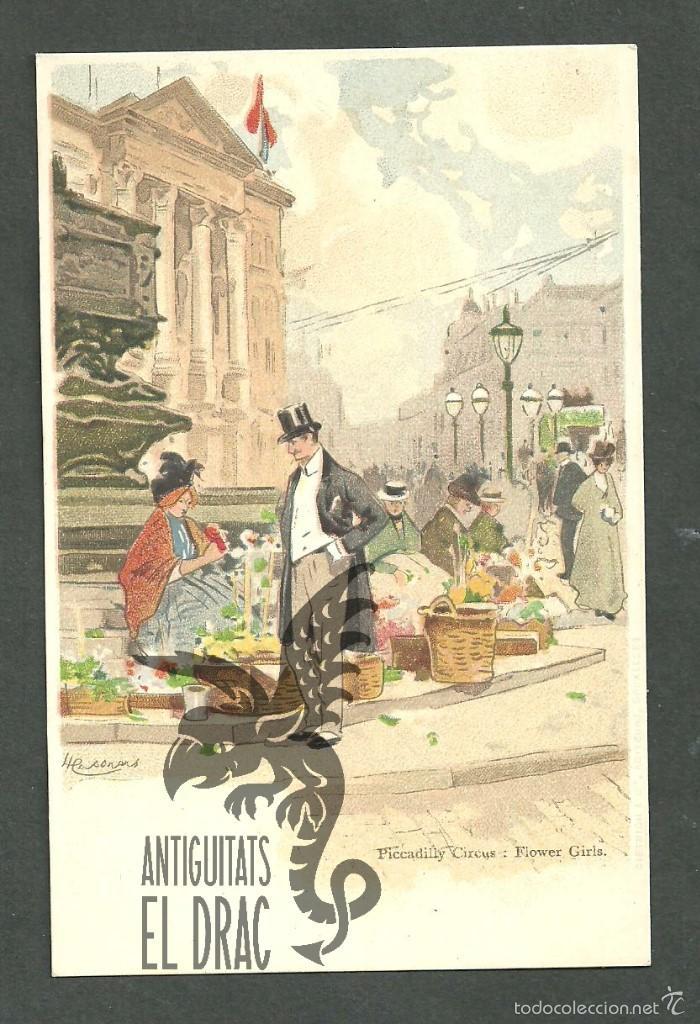 TARJETA POSTAL FIRMADA POR HENRI CASSIERS LITOGRAFIADA DE O. DASD Y MENDEL, EDIT BRUXELLES 1900 (Postales - Postales Temáticas - Dibujos originales y Grabados)