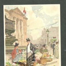 Postales: TARJETA POSTAL FIRMADA POR HENRI CASSIERS LITOGRAFIADA DE O. DASD Y MENDEL, EDIT BRUXELLES 1900 . Lote 56251912