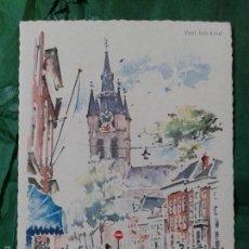 Postales: PRECIOSA POSTAL HOLANDESA QUE REPRODUCE ACUARELA DE AMSTERDAM, AÑOS 70. Lote 57815980