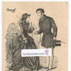 Postcards - POSTAL LÁMINA CON GRABADO PAREJA, AUTOR CAMPS - ÉPOCA 1851 - 58112700
