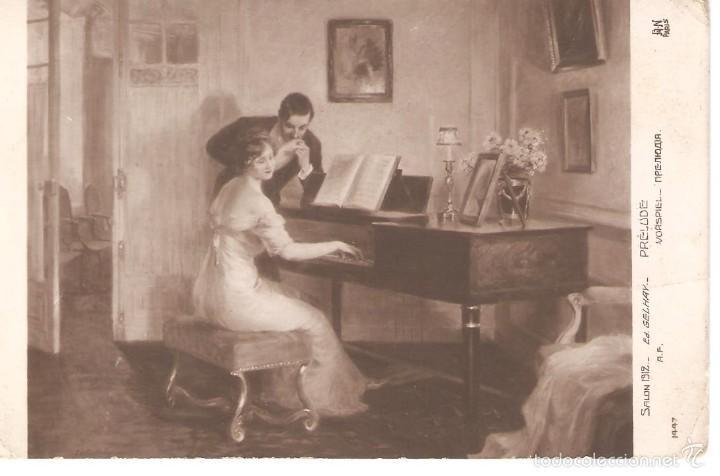 POSTAL SALON 1912 1916 29/025 (Postales - Postales Temáticas - Dibujos originales y Grabados)