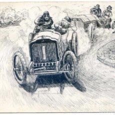 Postales: POSTAL ORIGINAL DEDICADA POR EL AUTOR A UNOS NOVIOS POR SU BODA, 1910. Lote 58653033