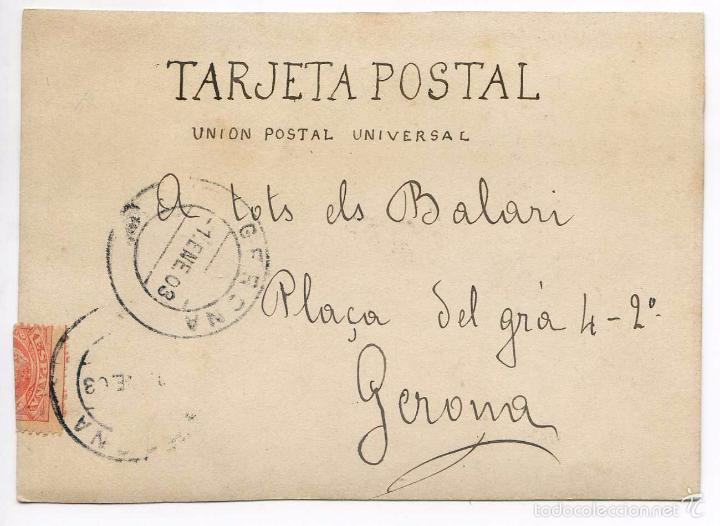 Postales: Postal original 1903, Gastronomía, cocina, Girona - Foto 2 - 58653090