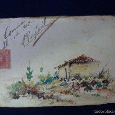 Postales: POSTAL. PINTADA A MANO. FIRMADA POR SANTOS. 1902. Lote 60868467